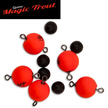 Quantum Magic Trout Float Connector Swivel rot 10mm - 5 Wirbel  – Bild 1