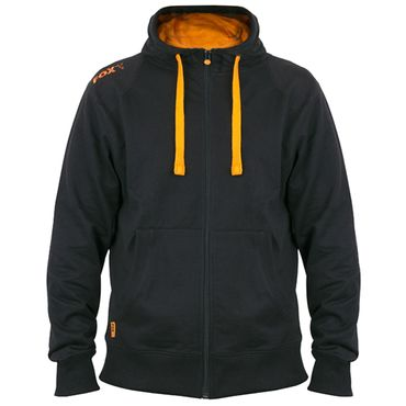 Fox Black Orange lightweight zipped Hoodie - Angelpullover – Bild 2