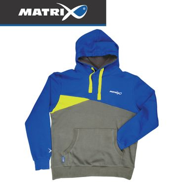 Fox Matrix Blue Grey Hoody - Angelpullover – Bild 1