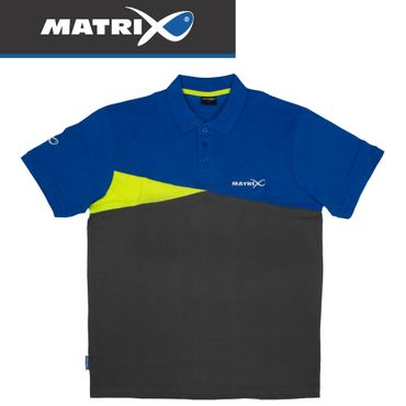 Fox Matrix Polo Shirt Blue Grey - Poloshirt – Bild 1