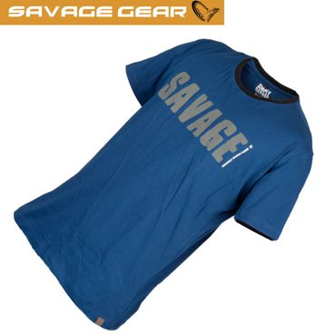 Savage Gear Simply Savage Tee Blue - Angel T-Shirt – Bild 1