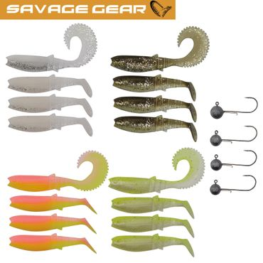 Savage Gear Canibal Box Kit M - 16 Gummifische + 4 Jigköpfe – Bild 1