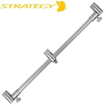 Strategy Stainless Steel Buzzerbar Tele 3 Rods 35-50cm - Rutenablage – Bild 1