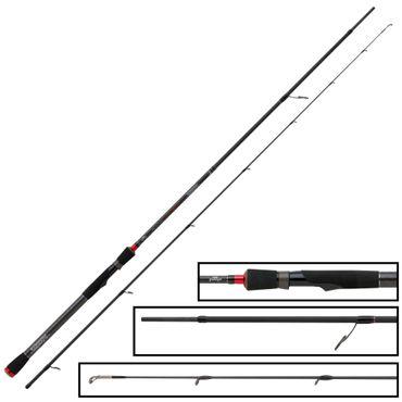 Fox Rage Prism Zander Pro Rod 240cm 7-28g- Spinnrute zum Gummifischangeln, Angelrute zum Zanderangeln, Zanderrute zum Spinnfischen – Bild 2
