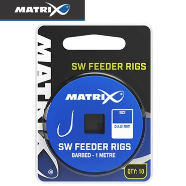 Fox Matrix SW Feeder Rigs 1m - 10 gebundene Angelhaken – Bild 1