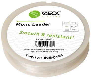 Zeck Mono Leader 40m 1,2mm 73kg - Vorfachschnur zum Wallerangeln, Monofil Vorfachmaterial, Monofile Schnur für Welsvorfächer – Bild 2
