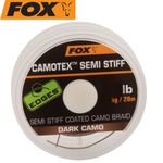 Fox Camotex dark Semi Stiff 20m 35lbs 15,8kg - Vorfachschnur 001