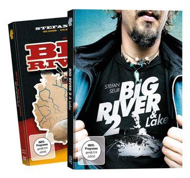 Stefan Seuß Big River + Big River 2 - DVD Set, Wallerangeln Fluss, Angeln auf Wels an Weser, Elbe, Wallerfilm, Welsfilm, Angelfilm, Angeldvd, Wallermontagen, Welse fangen – Bild 1