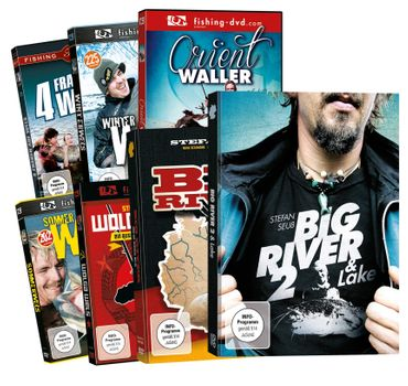 7 Wallerangeln DVDs Stefan Seuß Big River Teil 1 + 2,.. DVD Set – Bild 1