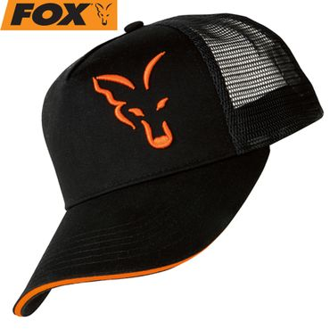 Fox Black / Orange Trucker Cap - Angelcap – Bild 1