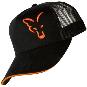 Fox Black / Orange Trucker Cap - Angelcap – Bild 2