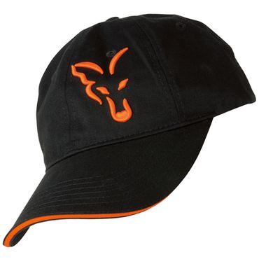 Fox Black / Orange Baseball Cap - Anglercap für Karpfenangler, Cappy für Angler, Anglermütze, Angelmütze, Schirmmütze Sonnenschutz – Bild 1