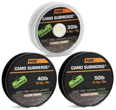 Fox Submerge Camo Lead free woven Leader - Vorfachschnur – Bild 2