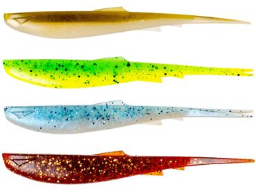 Zeck Wilson - Gummifisch zum Spinnangeln auf Zander, Barsche & Hechte, No Action Shad, Gummiköder, Zanderköder, Gummishad – Bild 8