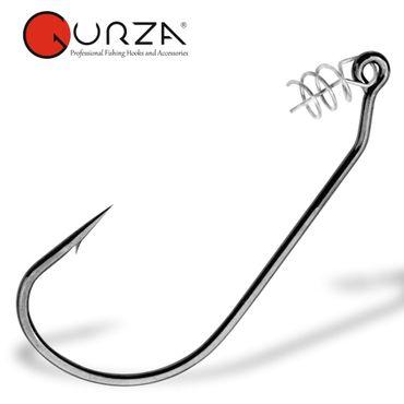 Gurza Easy Swimbait Hook - Offset Haken mit Schraubspirale – Bild 2