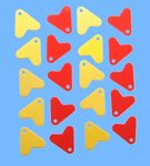 20 Flossen gelb u. rot für Blinker Pilker Wobbler  001