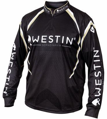 Westin LS Tournament Shirt Black/Grey  - Team Angelshirt – Bild 1