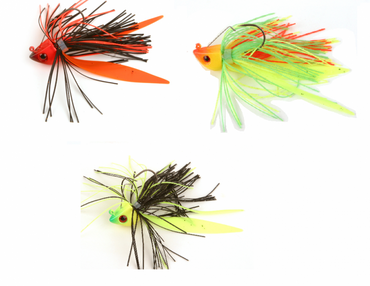 Fox Rage Fish Head Skirted Jigs Jigköpfe Fransen Gummiköder – Bild 1