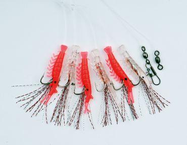 Behr Makrelen- und Heringssystem mit 6 Mini-Shrimps an 6 Haken Gr. 4