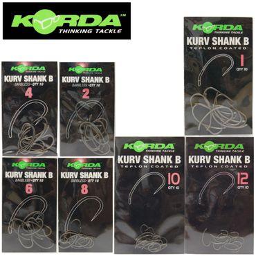 Korda Kurv Shank B Karpfenhaken (ohne Widerhaken) – Bild 1