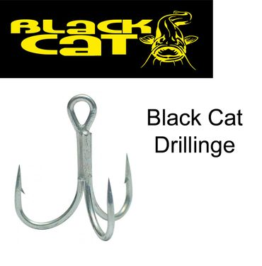 Black Cat Drillinge (1 - 2/0) Wallerhaken – Bild 1