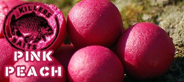 Carp Killers Pink Peach 5kg Boilies + 100g Pop Ups 16mm + 250ml Dip  – Bild 2