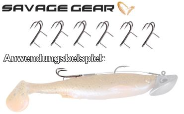 Savage Gear Twin Spike Double Hook Angsthaken für Gummifische – Bild 2