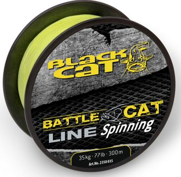 Black Cat Battle Cat Line Spinning 300m 0,35mm 35kg gelb Wallerschnur – Bild 2