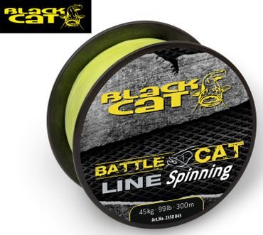 Black Cat Battle Cat Line Spinning 300m 0,45mm 45kg gelb Wallerschnur – Bild 1