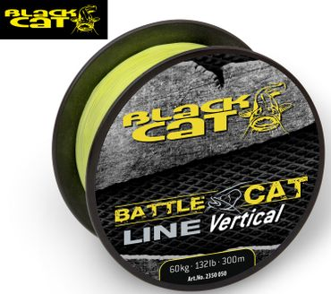 Black Cat Wallerschnur Battle Cat Line Vertical 300m 0,50mm 60kg gelb  – Bild 1