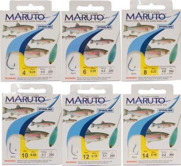 Maruto Forellenhaken Sbirulino 2m – Bild 1