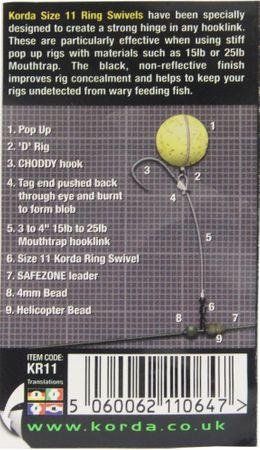 Korda Ring Swivels Gr. 11 – 8 Wirbel – Bild 2
