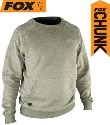 Fox Chunk Crew Sweatshirt Olive Marl Angelpullover – Bild 1