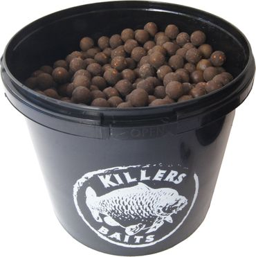 Carp Killers Black Fish & Garlic Boilies 3,5kg Eimer – Bild 2