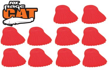 Fox Rage Cat Power Grip Bait Fins Red Köderstopper – Bild 1