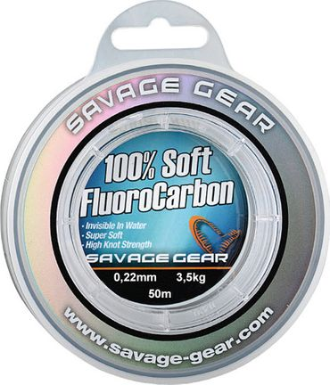 Savage Gear Soft Fluorocarbon 0,22mm 50m 3,5kg – Bild 1