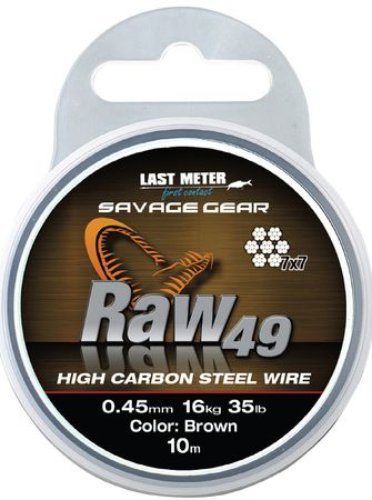 Savage Gear Raw 49 braun Stahlvorfach 7x7 10m – Bild 2