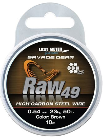 Savage Gear Raw 49 braun Stahlvorfach 7x7 10m – Bild 3