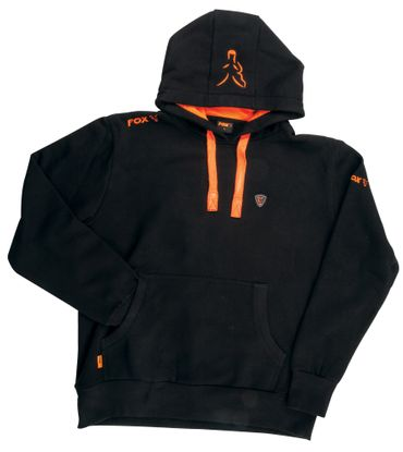 Fox Black / Orange Hoodie Kapuzenpullover – Bild 2