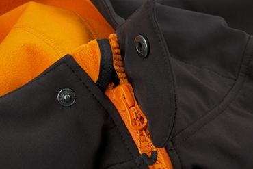 Fox Black / Orange Softshell Jacke Angeljacke  – Bild 4