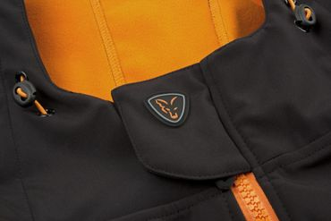 Fox Black / Orange Softshell Hoodie Angeljacke Fox Black / Orange Softshell Hoodie Angeljacke – Bild 5