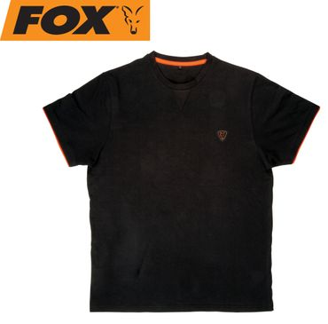 Fox Black / Orange Brushed Cotton T-Shirt – Bild 1