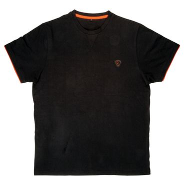 Fox Black / Orange Brushed Cotton T-Shirt – Bild 2