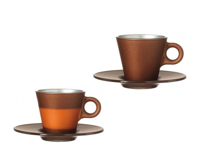 Espressotasse Ooh Magico Braun Metallic – Bild 1
