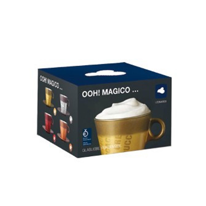 Cappuccinotasse Ooh Magico Grafia Grau Metallic – Bild 3