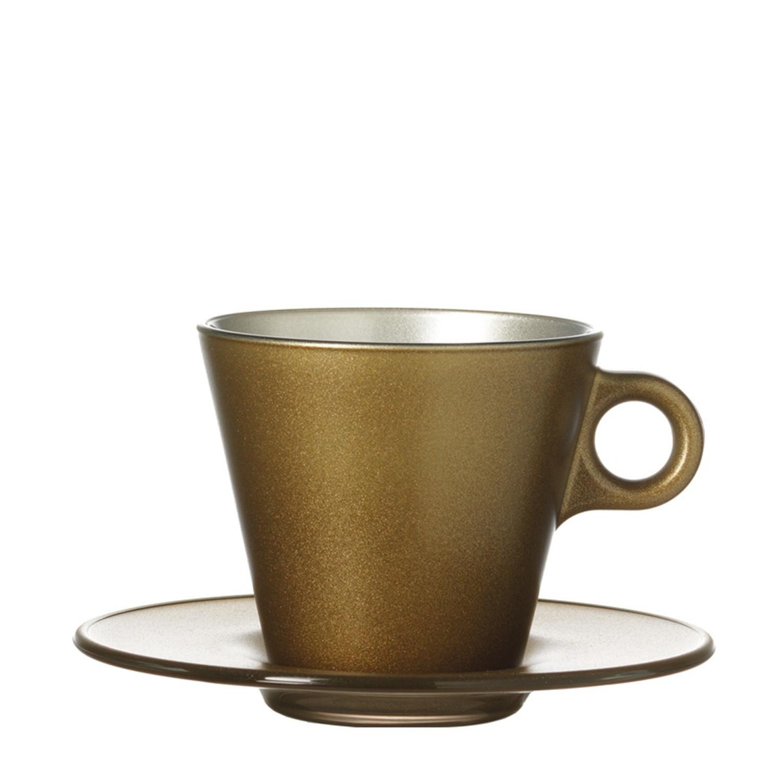 Cappuccinotasse Ooh Magico Gold Metallic – Bild 1