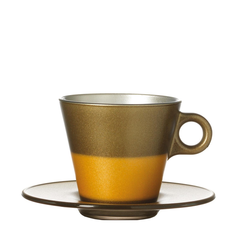 Cappuccinotasse Ooh Magico Gold Metallic – Bild 2