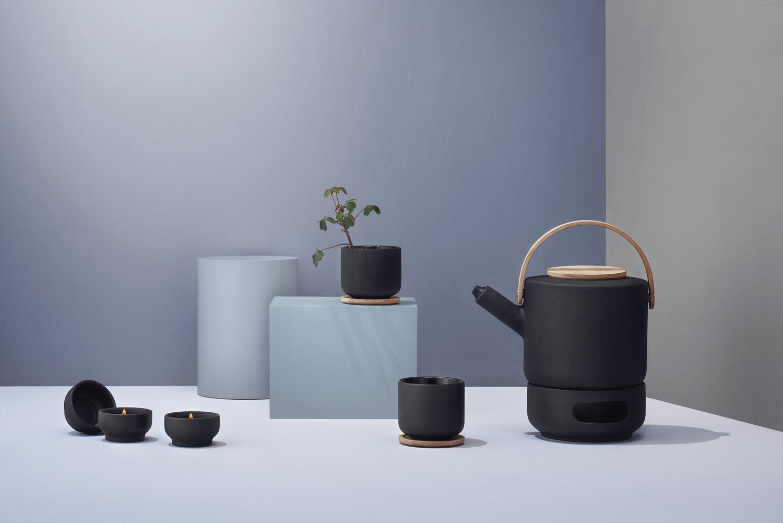 Teekanne Theo 22x16 Steinzeug Schwarz – Bild 2