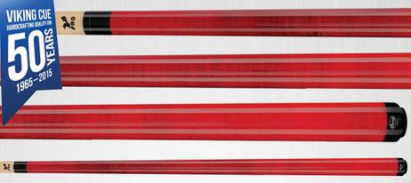 Viking Cues A207 Crimson Stain Pool Billard Queue, Billardqueue Made in USA