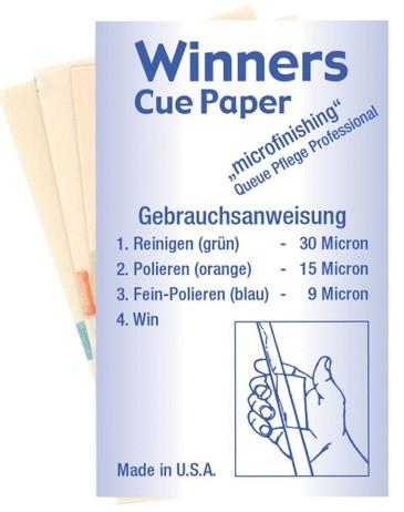 Winners Cue Paper Micro Schleifpapier für Billard Queue